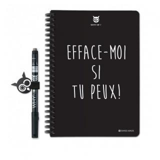 WhyNote - WhyNote book – A5 – Efface-moi si tu peux! - bloc-note réutilisable