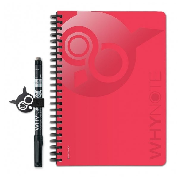 WhyNote - WhyNote Book – A5 – Magenta - bloc-note réutilisable