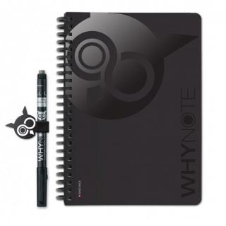 WhyNote - WhyNote Book – A5 – Noir - bloc-note réutilisable