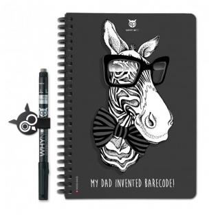 WhyNote - WhyNote Book – A5 – Zebra - bloc-note réutilisable