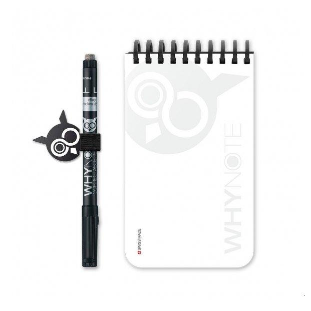 WhyNote - WhyNote Book – Pocket – Blanc - bloc-note réutilisable