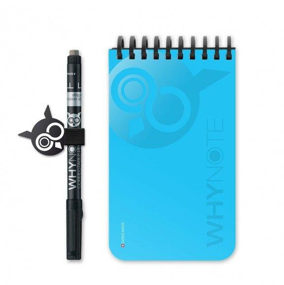 WhyNote - WhyNote Book – Pocket – Bleu - bloc-note réutilisable
