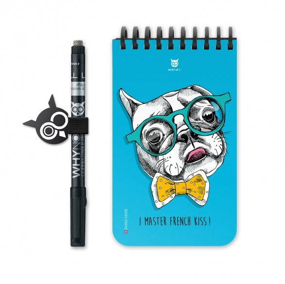 WhyNote - WhyNote Book – Pocket – Bulldog - bloc-note réutilisable
