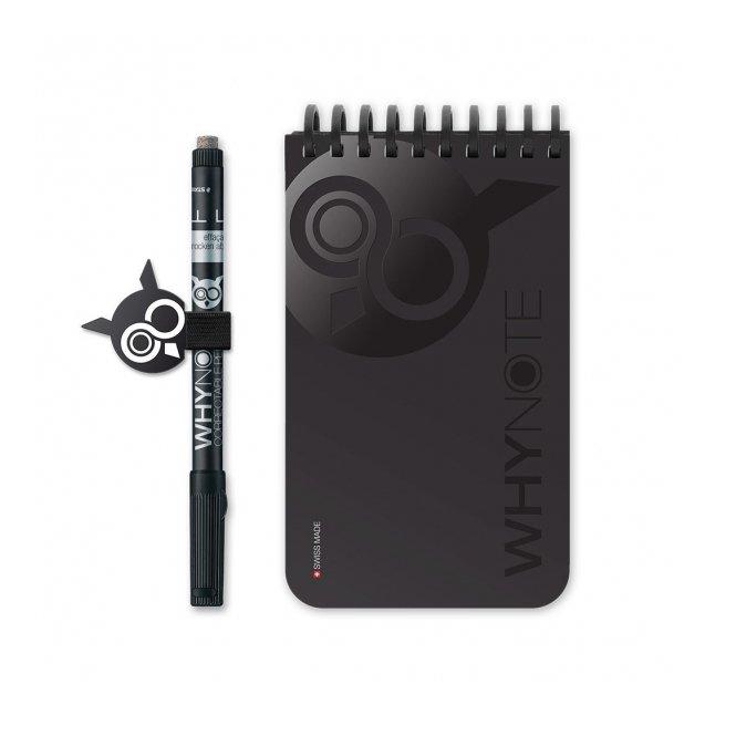 WhyNote - WhyNote Book – Pocket – Noir - bloc-note réutilisable