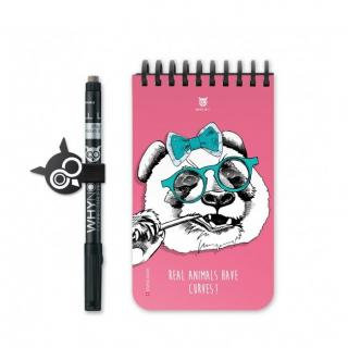 WhyNote - WhyNote Book – Pocket – Panda - bloc-note réutilisable